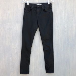 Topshop Moto Lee skinny black jeans coated 30